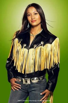 Beautiful Native American leather and denim fashion. American Indian Girl, Native American Girls, Native American Pictures, Native American Beauty, Native American Tribes, Native American History, American Indians, American Symbols, American Art
