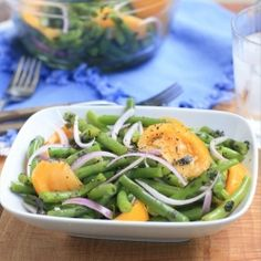 Green Bean and Heirloom Tomato Salad with Mint.