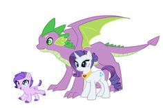 Spike, Claire's father, rarity, her mother