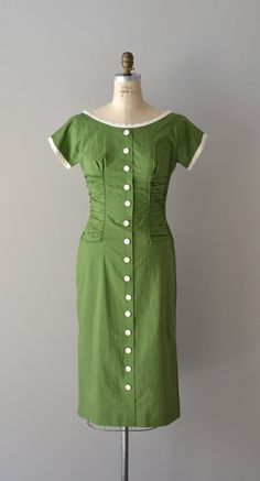 Clover Club dress / vintage 1950 dress / green 50s by DearGolden