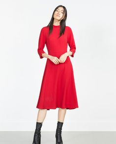 Image 1 of HIGH NECK DRESS from Zara