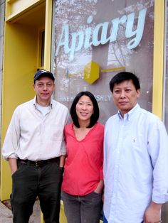 Teresa Hsiao, Joerg Zehe and Kim Nee, owners of Apiary