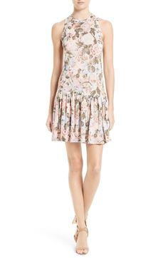 Main Image - Rebecca Taylor Penelope Floral A-Line Dress