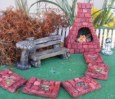 Miniature Fairy Gnome Furniture Garden Kit Miniature Planter Garden Decor   eBay Crafts To Do, Arts And Crafts, Back Gardens, Fairy Gardens, Love Fairy, Mini Things, Gnome Garden, What To Make, Miniature Furniture