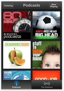 Apple podcast app - great way to occupy the kids without screen time!