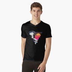 """Great Retro Wave "" T-shirt by ind3finite | Redbubble My T Shirt, V Neck T Shirt, Diy Shirt, Cyberpunk, Lincoln, Drummer T Shirts, Babe, Funny Bears, Retro Waves"