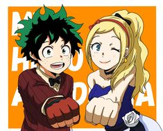 Izuku and Melissa from My Hero Academia: Two Heroes. I would love to see them become crime fighting partners some day. My Hero Academia Memes, Boku No Hero Academia, My Hero Academia Episodes, My Hero Academia Manga, Awsome Pictures, Otaku, Anime Crafts, Anime Weapons, Hero Wallpaper