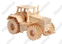 3D Wooden Puzzle - Vario Tractor Model