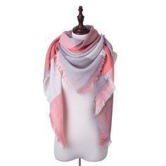 aad81f96913e3 $4.39 New Winter Scarf For Women Tartan Scarf Women'S Plaid Blanket Scarf  Basic Shawls Autumn Winter