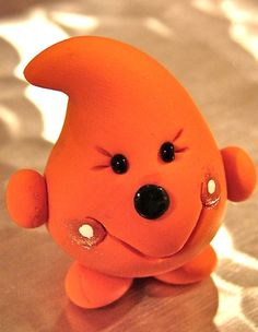 ORANGE PARKER  Polymer Clay Character  Limited by KatersAcres