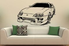 Toyota Supra Fast and Furious Wall Art Sticker Decal Original Room Decor 1456 by UniqueDecorIdeas on Etsy https://www.etsy.com/listing/242202522/toyota-supra-fast-and-furious-wall-art