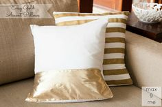 Max and Me: Easy Gold Accent Pillows - Pinterest Challenge