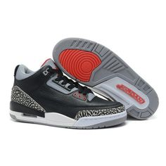 """new concept b1cb3 854d9 Find Air Jordans 3 Retro """"Black Cement"""" Black Varsity Red-Cement Grey  Christmas Deals online or in Pumarihanna. Shop Top Brands and the latest  styles Air ..."""