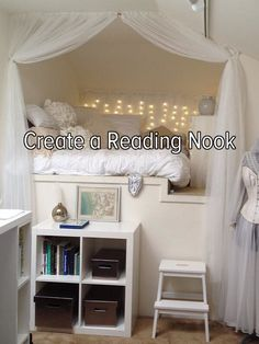 create a reading nook where I can relax! Being by myself makes me feel so good. I do it often..
