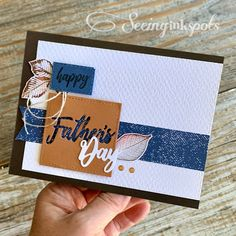 Fathers Day Cards, Happy Fathers Day, Handmade Greetings, Greeting Cards Handmade, Nature Poem, New Dads, Time To Celebrate, Masculine Cards, Embossing Folder