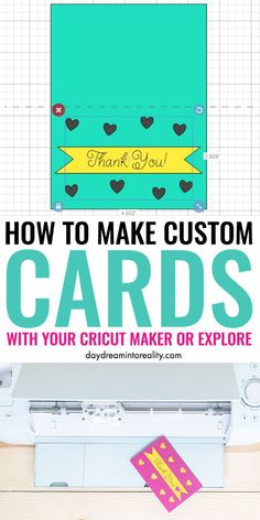 Learn how to make beautiful custom Cards for any occasion! Yes, today you are ditching store bought cards and embracing your own creativity to show your loved ones how much you love and appreciate them! Maker or Explore Cricut Vinyl, Cricut Cards, Tips And Tricks, Cricut Tutorials, Cricut Ideas, Maker, Cricut Creations, Custom Cards, Cricut Explore