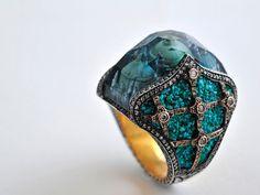 Jeweler Sevan Bıçakçı makes these incredible rings with tiny cities inside them!