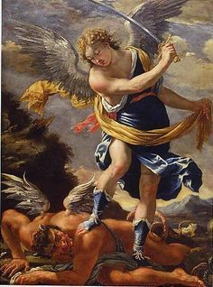 Saint Michael The Archangel Angel Clouds, St Raphael, Angel Guide, Religion Catolica, Angel Warrior, I Believe In Angels, Ange Demon, Baroque Art, Angels Among Us