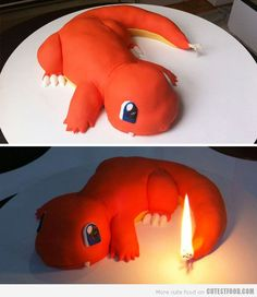 Funny pictures about Charmander Cake. Oh, and cool pics about Charmander Cake. Also, Charmander Cake photos. Pokemon Charmander, Pokemon Fan, Fire Pokemon, Pokemon Torte, Pokemon Cupcakes, Boy Birthday, Birthday Parties, Happy Birthday, Birthday Ideas