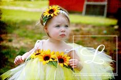 Sunflower Tutu dress... If I had a little girl... I'd be all over this! lol Love it! So cute!!!!