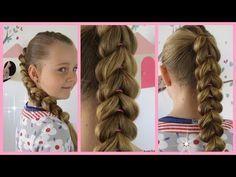 Doppel-Zopf Frisur/Flechtfrisur für mittel/lange Haare zum selber machen.Braid Hairstyle.Peinados - YouTube