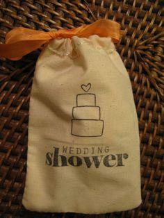 Wedding Shower Favor Bag with Ribbon by PrinceSnowFarm on Etsy, $1.25