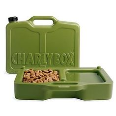 Charlybox: A compact carrier for your pet's food & water. Miles thinks this will be perfect for the camping trip we hope to take this summer.