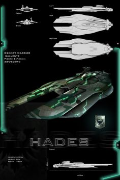 Gallente Escort Carrier by natalia Spaceship Design, Spaceship Concept, Concept Ships, Hades, Space Engineers, Sci Fi Ships, Space Pirate, Eve Online, Mechanical Design