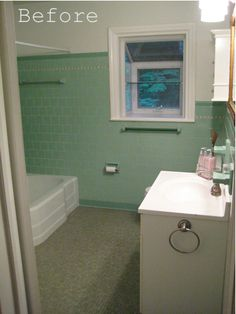 Guest Bath_from Door_Seafoam Green Tile