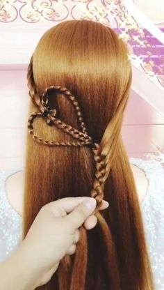Braided Ponytail Hairstyles, Easy Hairstyles For Long Hair, Braids For Long Hair, Beautiful Hairstyles, Braided Hairstyles Tutorials, Girl Hairstyles, Updos For Medium Length Hair Tutorial, Hair Tutorials For Medium Hair, Hair Up Styles