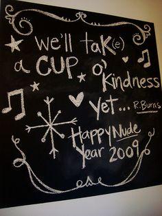 blackboard message - NYE