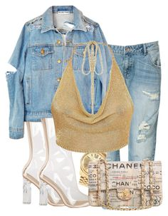 """""""denim babe."""" by zoeatiyyah on Polyvore featuring Zara, Michael Kors and Chanel"""