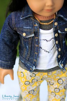 Spring Fashion | 18 Inch American Girl Dolls | Denim and Capris | Founders Day | Liberty Jane Couture Doll Clothes and Sewing Patterns