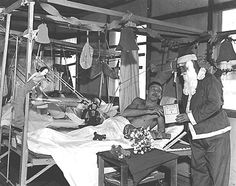 WWII photo of Christmas in the ward