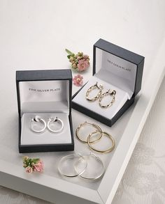 Find Mom the perfect boxed jewelry set for her special day! Crafted from fine silver or gold plate, these will add an elegant touch to her collection!