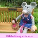 Ausführliche und gut bebilderte *Häkelanleitung* für Milla Maus, inkl. Kleid und Tasche.  Ihr benötigt Kenntnisse in Kettmaschen, festen Maschen, Krebsmaschen, Häkeln in Reihen und Spiralen,...