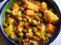 collection of top 60 indian veggie recipes. try making these delicious veggie recipes at home. Healthy Veg Recipes, Veg Recipes Of India, Curry Recipes, Vegetarian Recipes, Indian Curry Vegetarian, Indian Vegetable Curry, Veg Curry, Indian Carrot Recipes, Carrot Salad Recipes