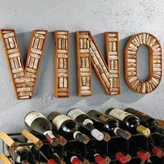 Wine Cork Craft! Cork Sign   http://diyready.com/wine-cork-crafts-craft-ideas/ #winecorkcrafts #winecorks