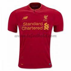 Billige Fodboldtrøjer Liverpool 2016-17 Kortærmet Hjemmebanetrøje