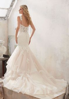 2017 Wedding Dresses and Bridal Gowns by Morilee designed by Madeline Gardner. DiamantŽ Beaded Lace Mermaid Wedding Dress with Glamorous Tulle Skirt.