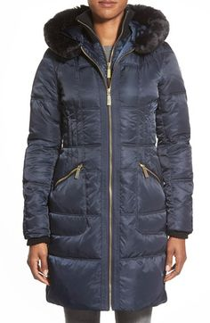 Vince CamutoBib Front Down & Feather Fill Coat with FauxFur available at #Nordstrom