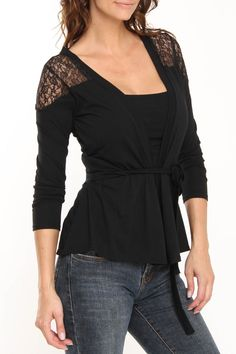 contact Amy Long Sleeve Top In Black - Beyond the Rack