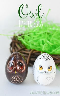 Owl Easter Eggs Turn your Easter eggs into a bunch of cute owls and give them as gifts this year! A good Easter craft for children and adults to enjoy together. If you enjoy arts and crafts a person will love this cool website! Spring Crafts, Holiday Crafts, Fun Crafts, Diy And Crafts, Crafts For Kids, Easter Crafts For Adults, Kids Diy, Decor Crafts, Easter Egg Crafts