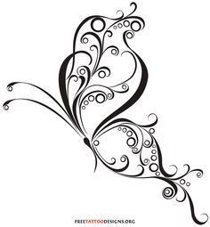 Celtic Swirl Tattoo | 60 Butterfly Tattoos | Feminine And Tribal Butterfly Tattoo Designs