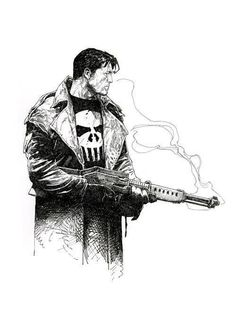 Punisher by Travis Charest. Punisher and Charest - the perfect pairing.