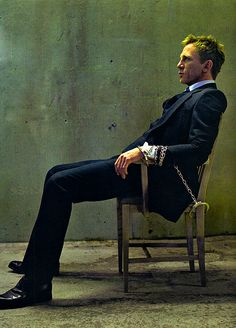 Oooohhhhhhhh my God!!!!!!!!   Oh Daniel, The things I would do to you.... Love this suit and handcuffed blonde