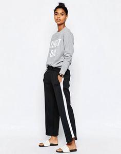 ASOS Luxe Contrast Side Stripe Jogger