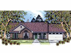 Eplans Country House Plan - Three Bedroom Country - 1110 Square Feet and 3 Bedrooms from Eplans - House Plan Code HWEPL61376