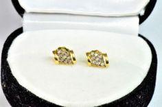 Yellow gold and diamond earrings 14k Earrings, Sapphire Earrings, Diamond Stone, Shapes, Yellow, Gold, Jewelry, Jewlery, Bijoux