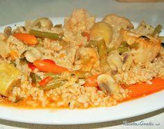 Aprende a preparar arroz integral con verduras con esta rica y fácil receta.  Preparamos todos los ingredientes. Ponemos en una cazuela el aceite a calentar, cuando...